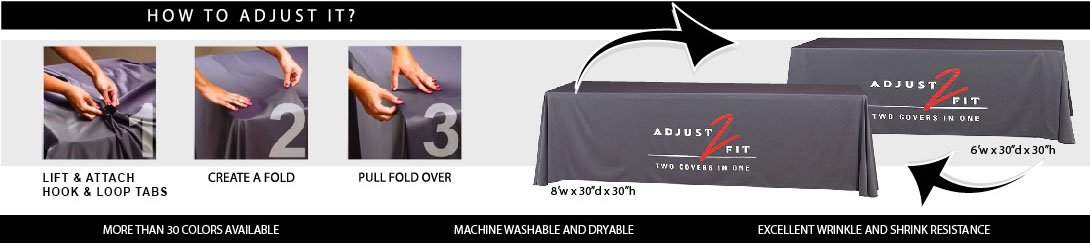 Twill Adjust 2 Fit Table Throw Covers