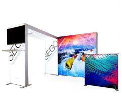 10' x 10' SEGO Modular Lightbox Exhibit Display - Configuration C