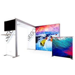 10' x 10' SEGO Modular Lightbox Exhibit Display - Configuration C