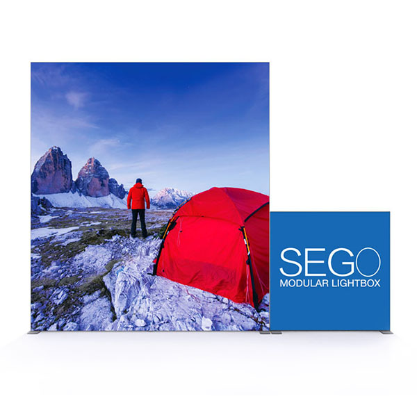 10' x 10' SEGO Modular Lightbox Exhibit Display - Configuration D