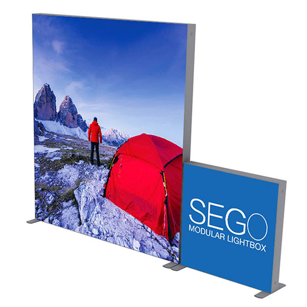10' x 10' SEGO Modular Lightbox Exhibit Display - Configuration D