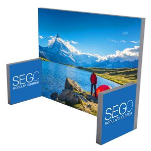 10' x 10' SEGO Modular Lightbox Exhibit Display - Configuration E
