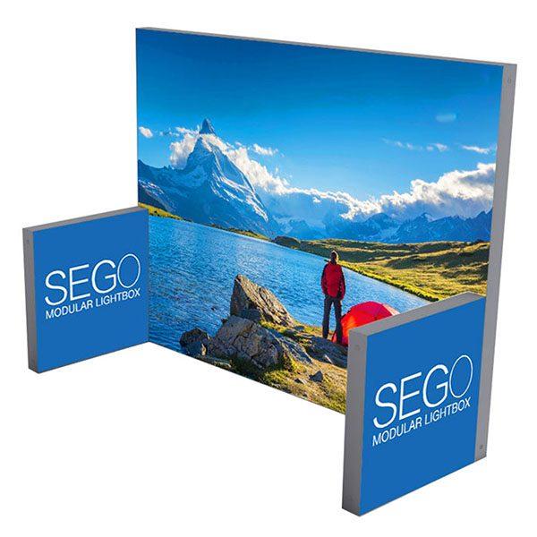 10' x 10' SEGO Modular Lightbox Exhibit Display - Configuration E