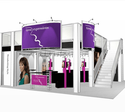 Double Decker Hybrid Display with private Conference Area