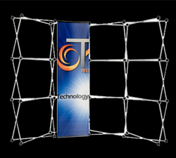 Tension Fabric Pop Up Display Wall