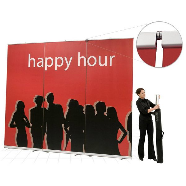 Exhibition Stand Lighting Xl : Expand media screen xl retractable banner stand pop up banner