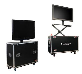 Monitor Lift Cases with Casters