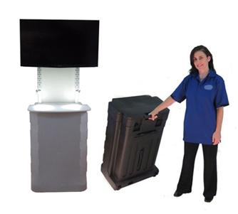Portable Rolling Kiosks with Casters