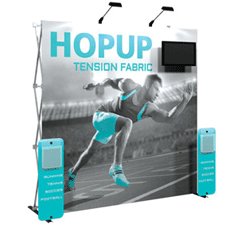 Hop Up Tension Fabric Exhibit