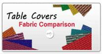 table covers fabric comparision