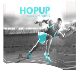 Tension Fabric Hopup Displays
