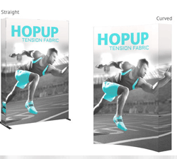 The Hop Up Tension Fabric Pop UP Display