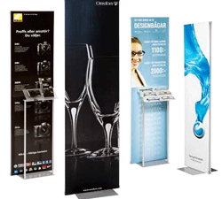 Instore Euro Banner Stands