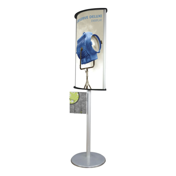 Observe Deluxe Display Sign Holder Side View