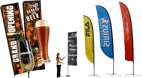 sail banner stands