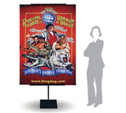 TELESCOPING BANNER DISPLAYS