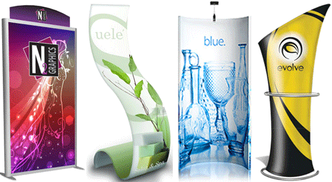 tension fabric banner stands