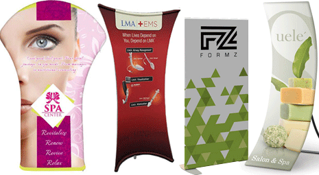 stretch fabric banner stands