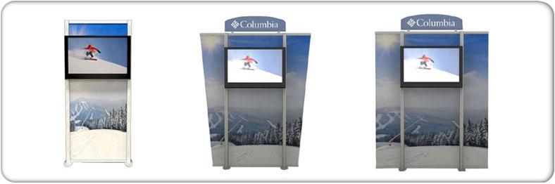 Trade Show Free Standing Monitor Stands Portable Monitor Truss
