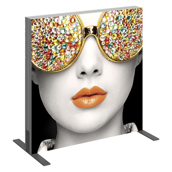 Vector Frame Light Box Square 01 Fabric Banner Display Front View