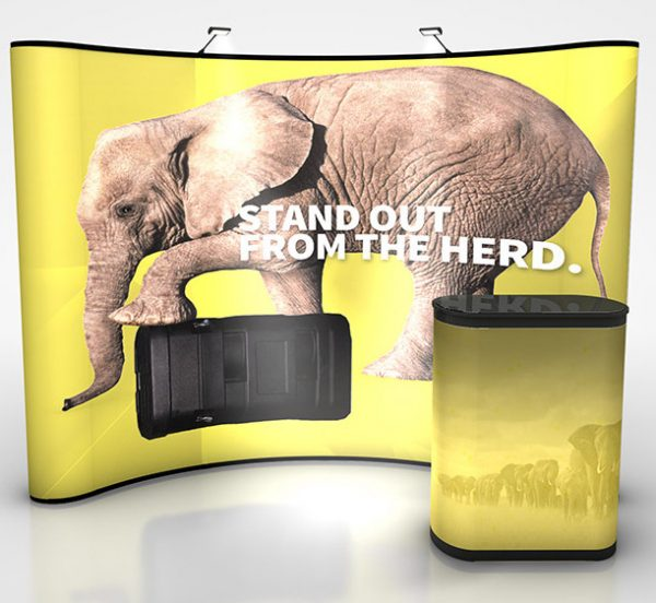 Economy Plus 10' Curve Graphic Pop Up Display