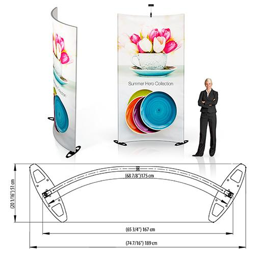 Grand Fabric Curved Wall Display 4