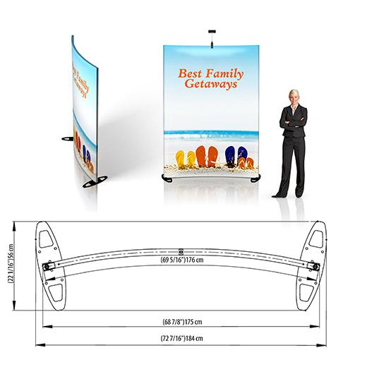 Grand Fabric Curved Wall Display 1