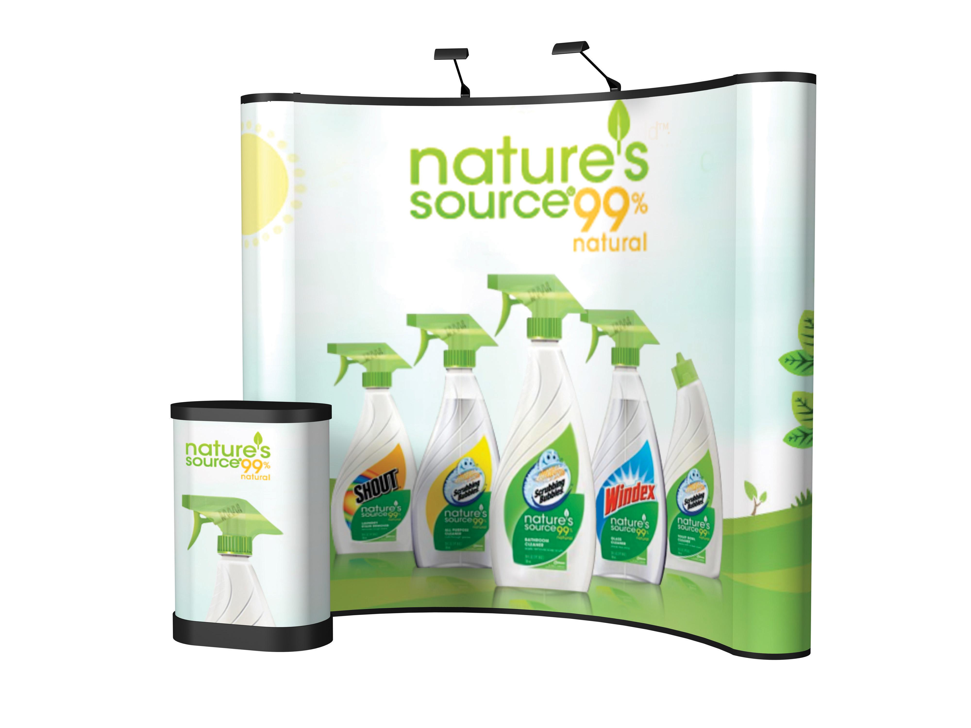 8 FT Energy X Curved Pop Up Graphics Kit