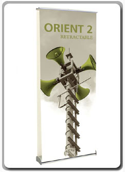 Orient Double Sided Retractable Banner Stand