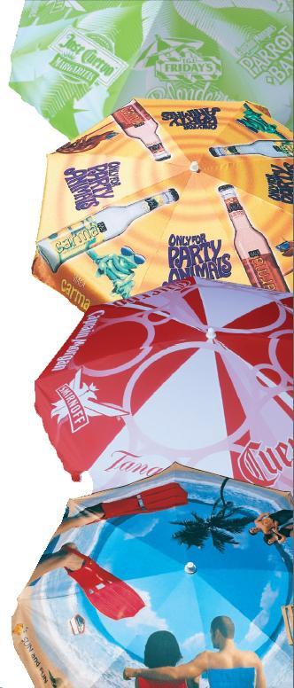 advertising umbrellas, outdoor displays