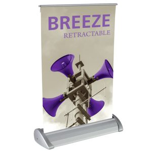 Breeze Table Top Retractable Banner Stand Graphic