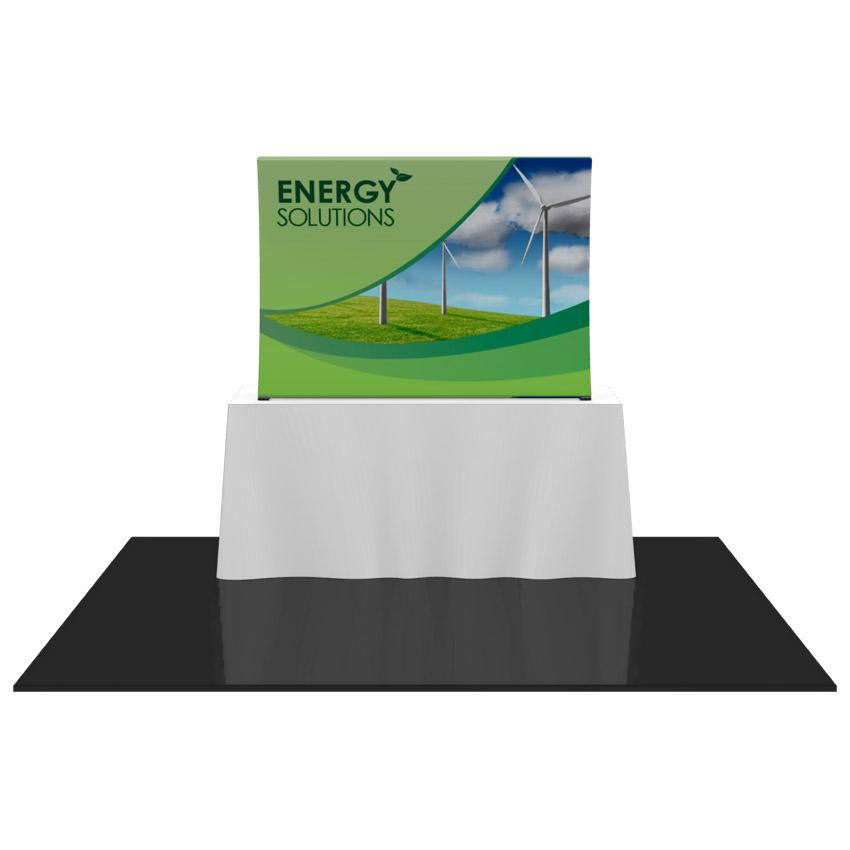 Table Top Formulate Master 1 Curved Fabric Display