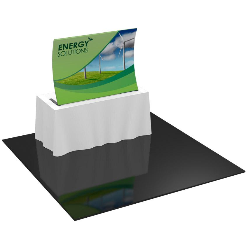 Table Top Formulate Master 1 Curved Fabric Display System