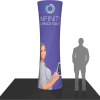 10ft. cylindrical fabric graphic tower