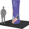8ft. cylindrical fabric graphic tower