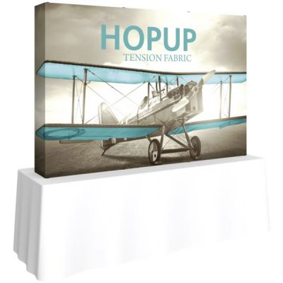 HopUp 8ft Tabletop Tension Fabric Display