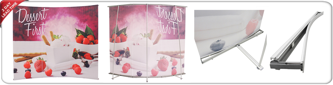 L-shaped banner stands 3 panels product