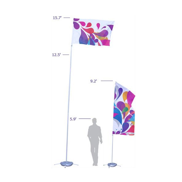 Portable Flag Pole No Arm