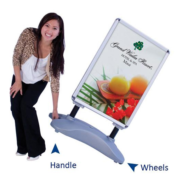 Water Base Snap Frame, outdoor, bannerstands, banner stands, outdoor banner stands, outdoor bannerstands,