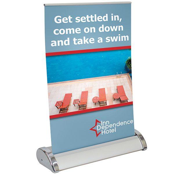 Small Mini Retractor Retractable Banner Stand