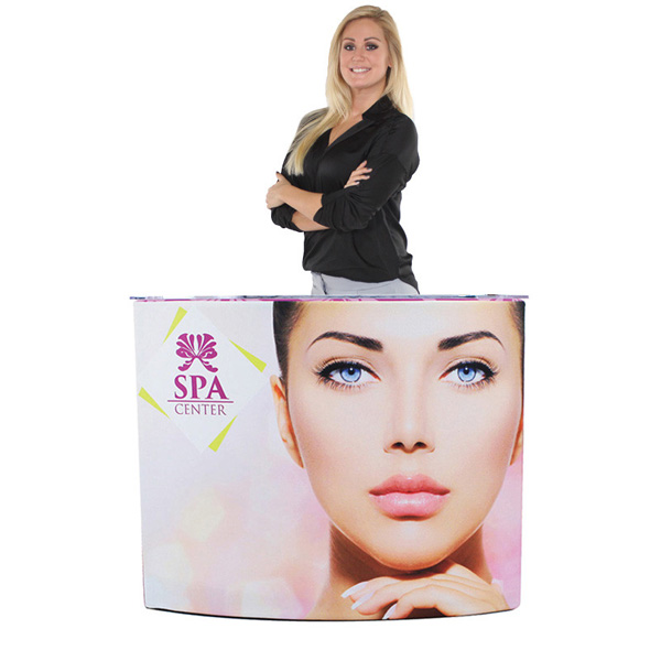 Trade Show EZ Fabric Curved Counter