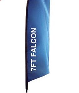 7ft Falcon Outdoor Sail Flag Banner