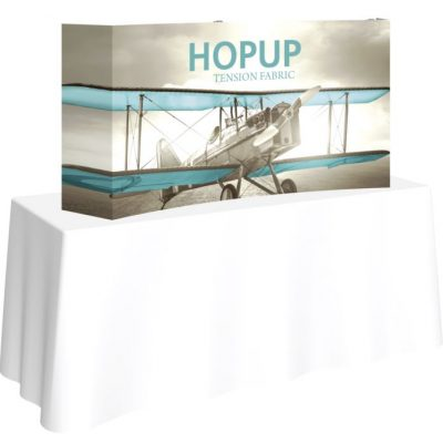 hopup 5ft curved tabletop display
