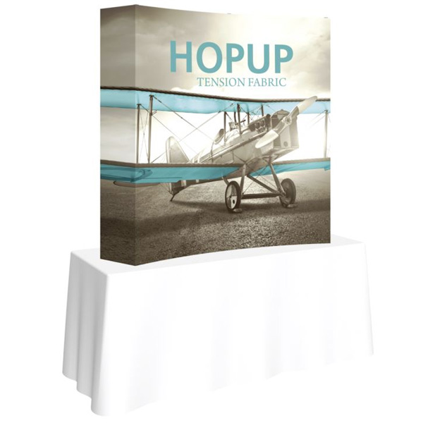 hopup 5ft curved tension fabric display
