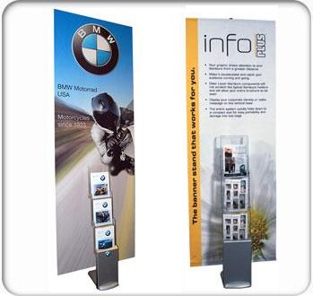 info plus banner stand