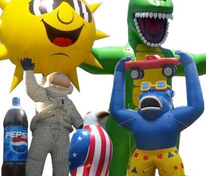 Custom Shapes, air dancers, inflatable advertising, custom inflatables, advertising inflatables, promotional inflatables
