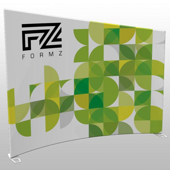 Formz Tapered Crescent Backwall Display