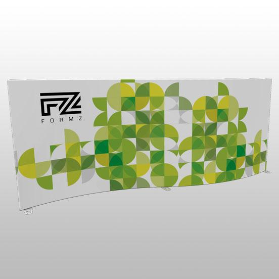 Formz S-Shape Backwall Display