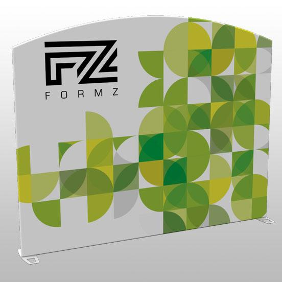 Formz Center Arch Backwall Display