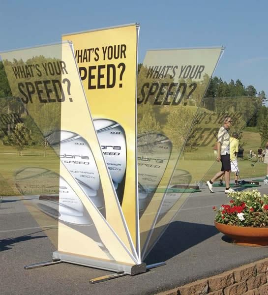 Media Screen 2 Double Sided Outdoor Retractable Banner Stand